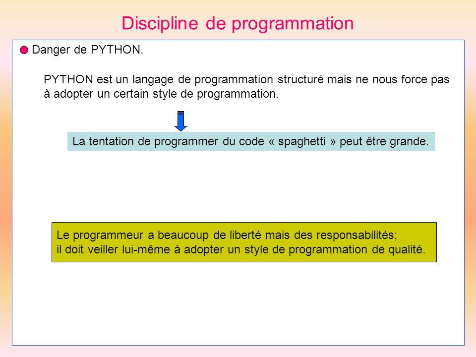 Discipline de programmation