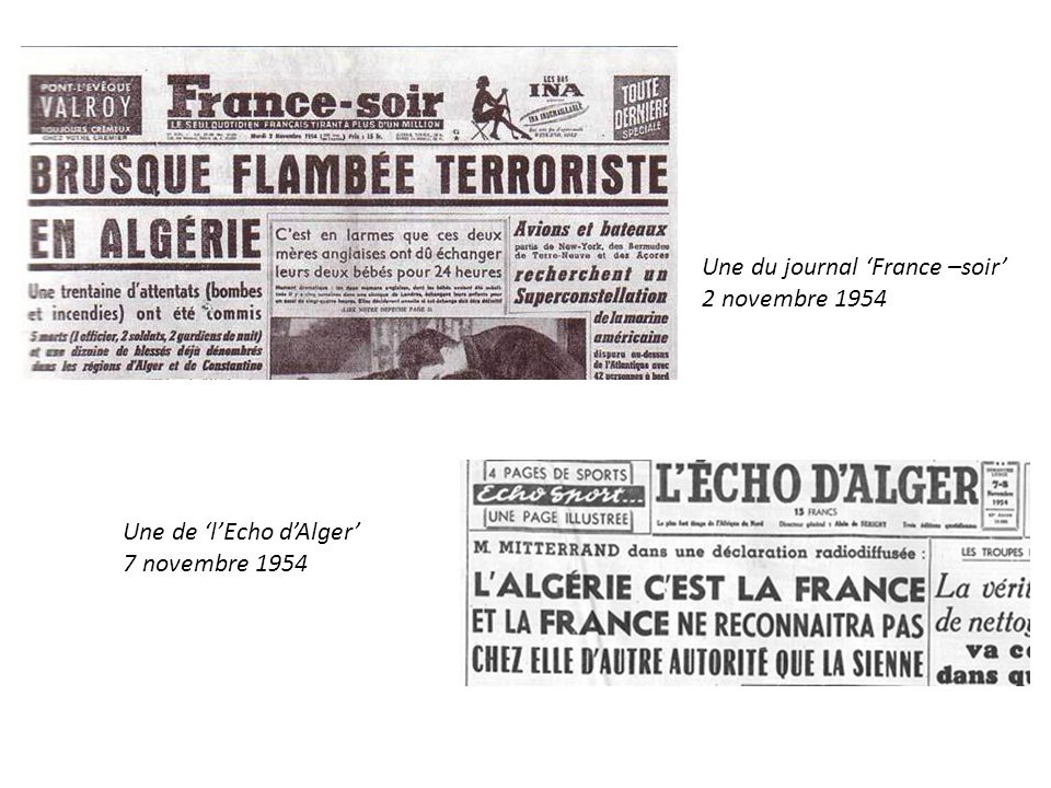 Une du journal 'France –soir'