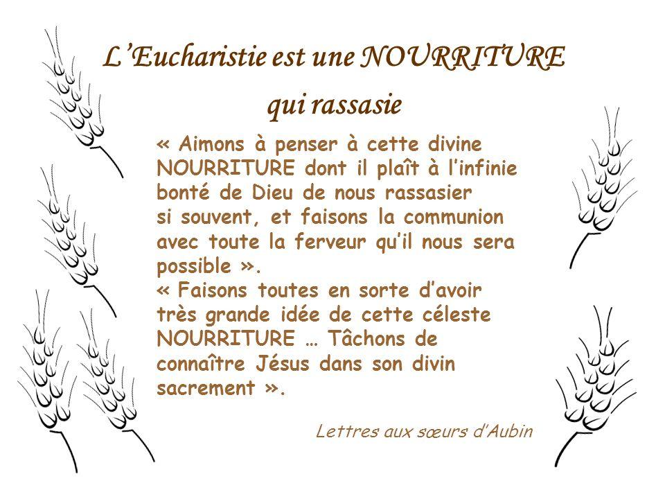 L'Eucharistie est une NOURRITURE