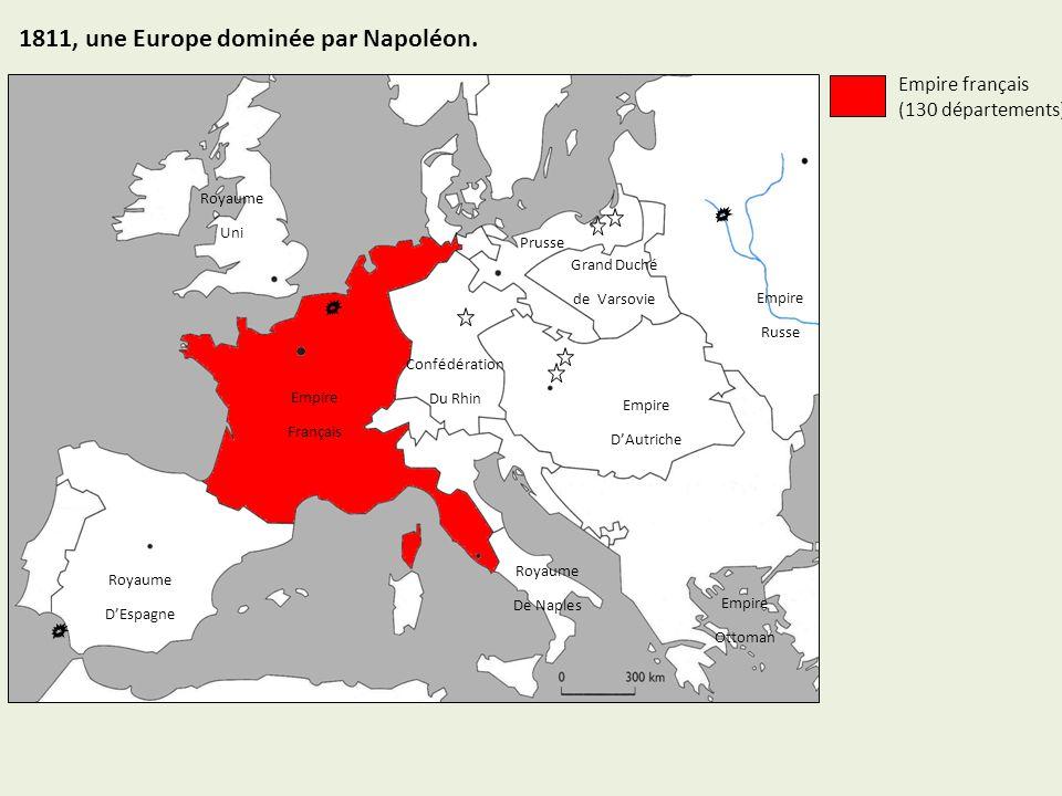 1811, une Europe dominée par Napoléon.