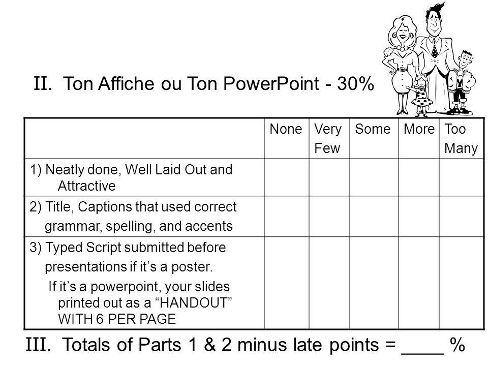 II. Ton Affiche ou Ton PowerPoint - 30%