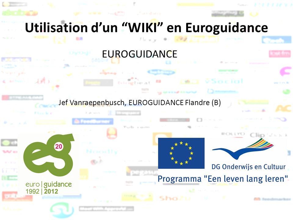 Utilisation d'un WIKI en Euroguidance