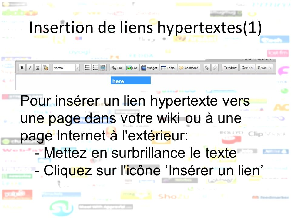 Insertion de liens hypertextes(1)