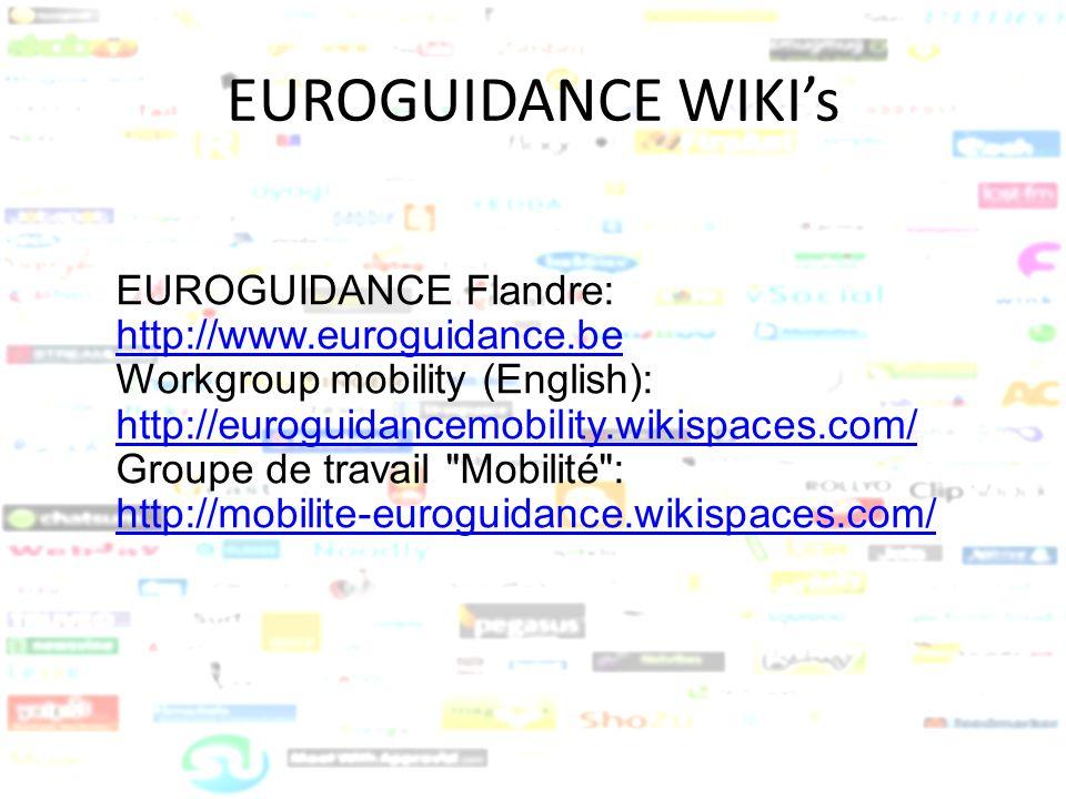 EUROGUIDANCE WIKI's EUROGUIDANCE Flandre: http://www.euroguidance.be