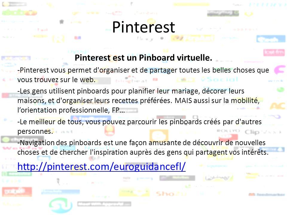 Pinterest est un Pinboard virtuelle.