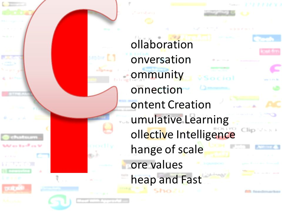 C ollaboration onversation ommunity onnection ontent Creation