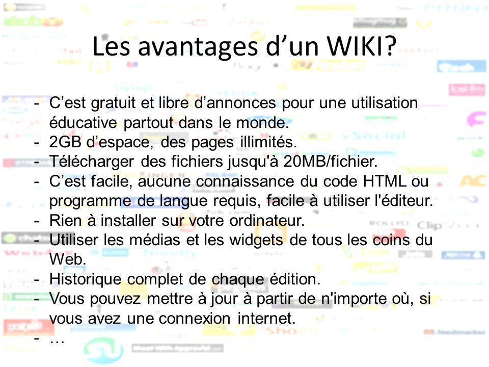 Les avantages d'un WIKI