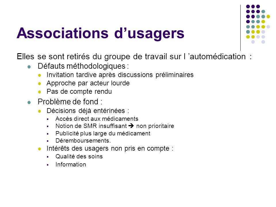 Associations d'usagers