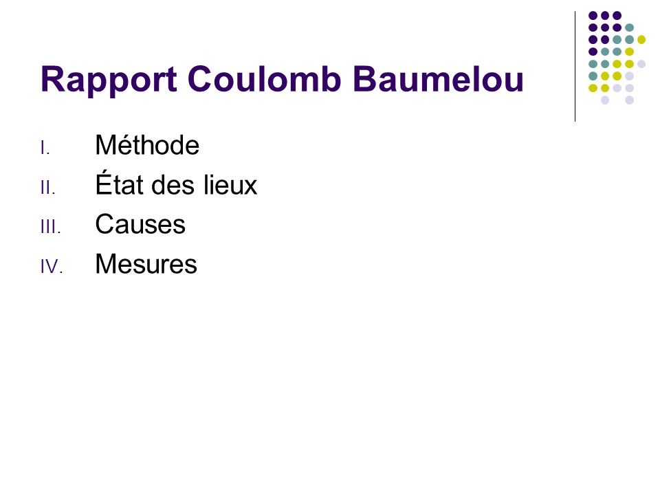Rapport Coulomb Baumelou