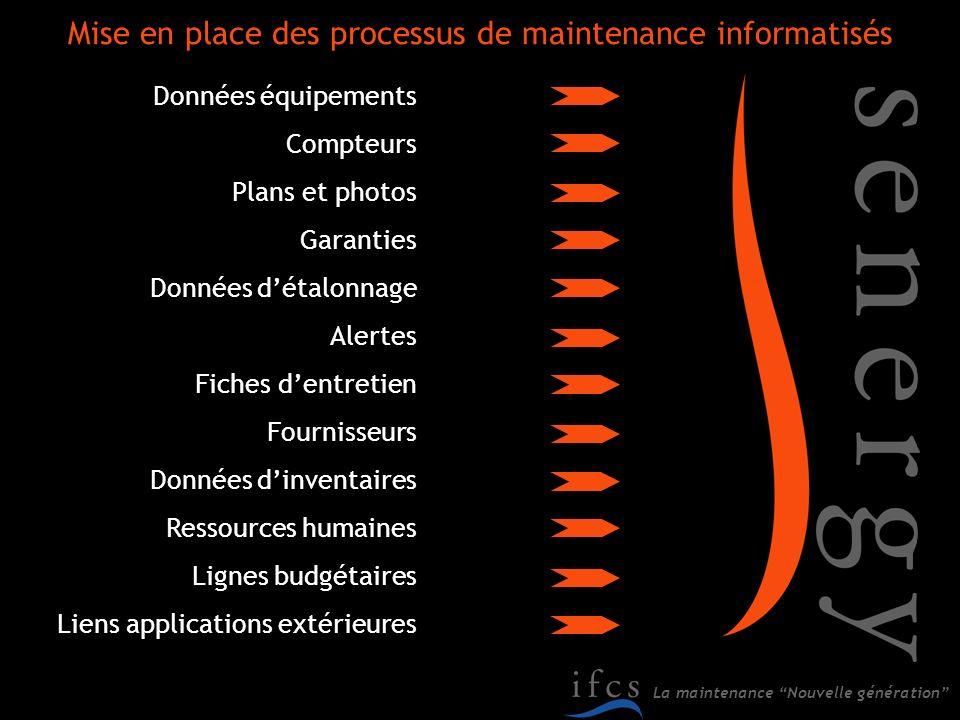 Mise en place des processus de maintenance informatisés