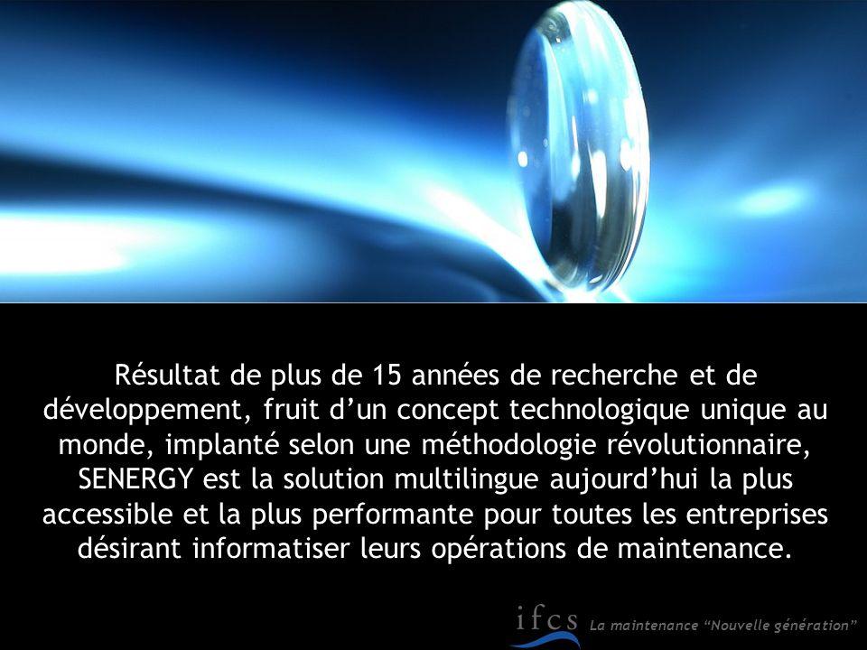 Résultat de plus de 15 années de recherche et de développement, fruit d'un concept technologique unique au monde, implanté selon une méthodologie révolutionnaire,