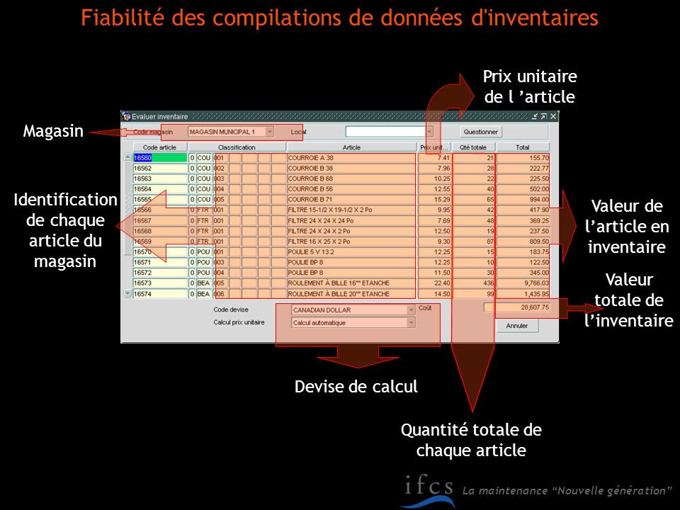 Fiabilité des compilations de données d inventaires