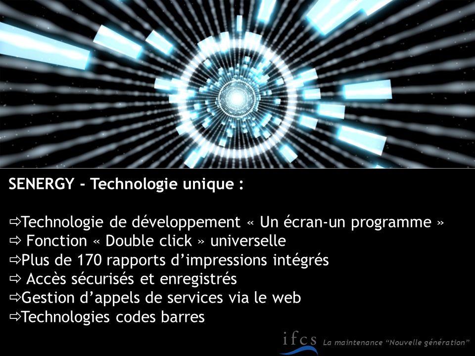SENERGY - Technologie unique :