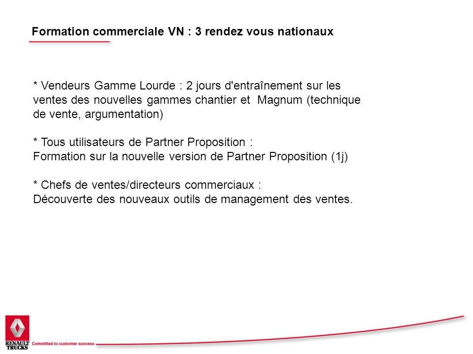 Formation commerciale VN : 3 rendez vous nationaux