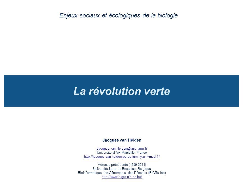 Enjeux sociaux et écologiques de la biologie