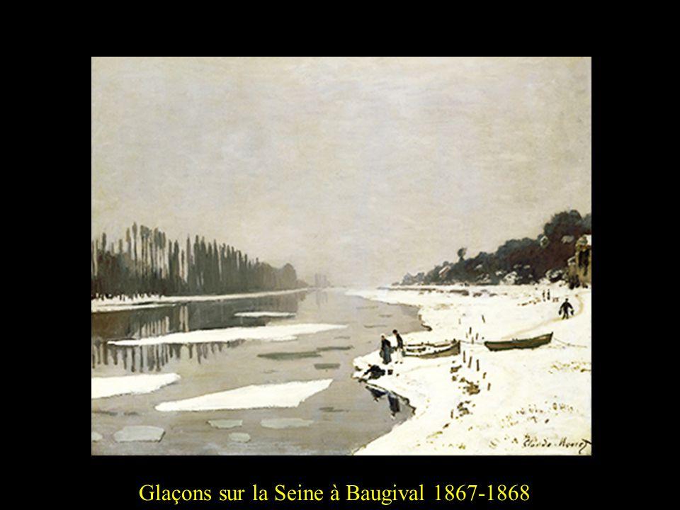Glaçons sur la Seine à Baugival 1867-18682