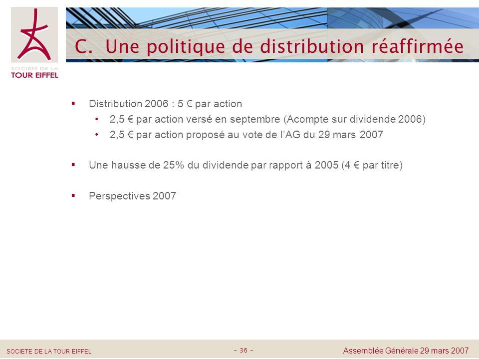 C. Une politique de distribution réaffirmée