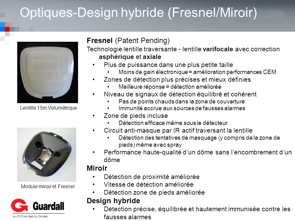Optiques-Design hybride (Fresnel/Miroir)