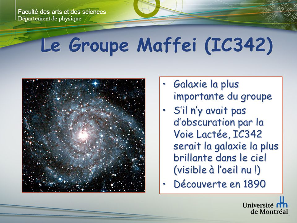 Le Groupe Maffei (IC342) Galaxie la plus importante du groupe