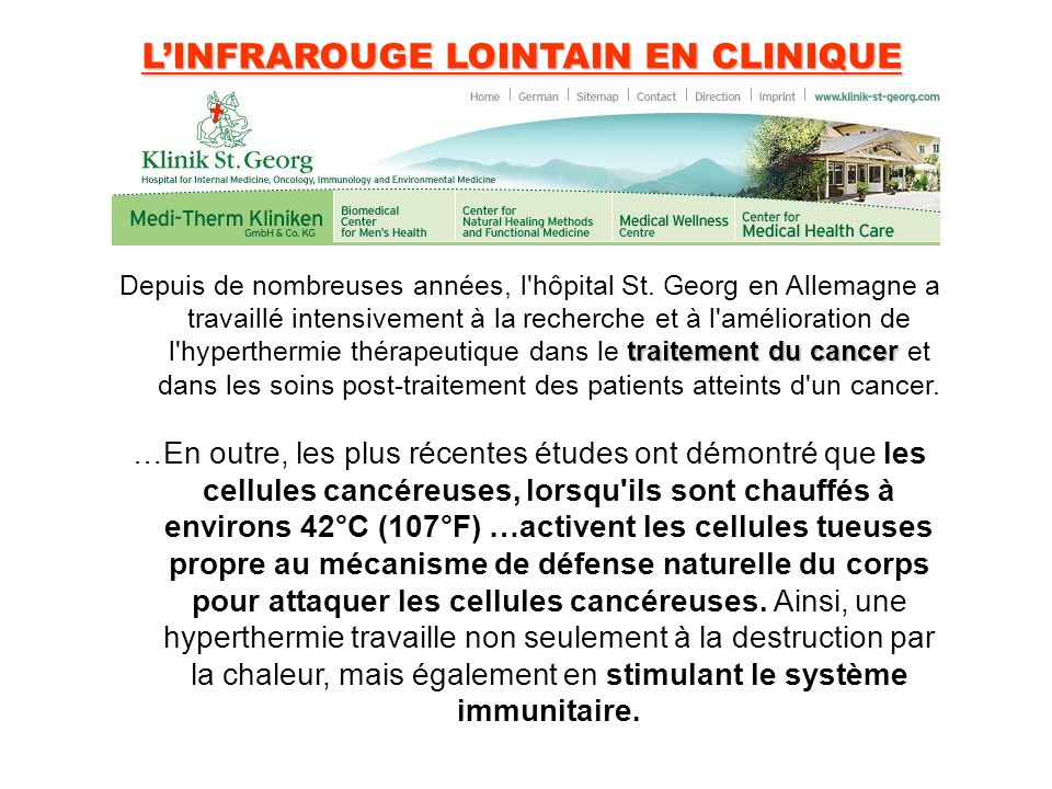 L'INFRAROUGE LOINTAIN EN CLINIQUE