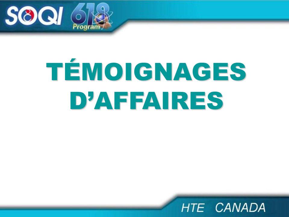 TÉMOIGNAGES D'AFFAIRES