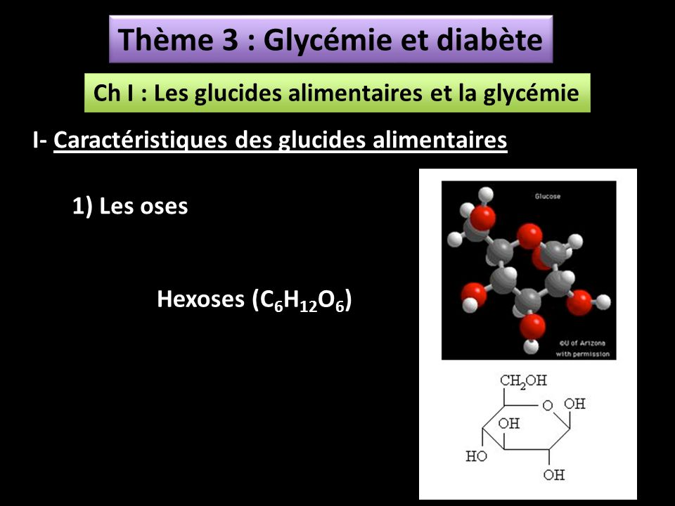 Thème 3 : Glycémie et diabète