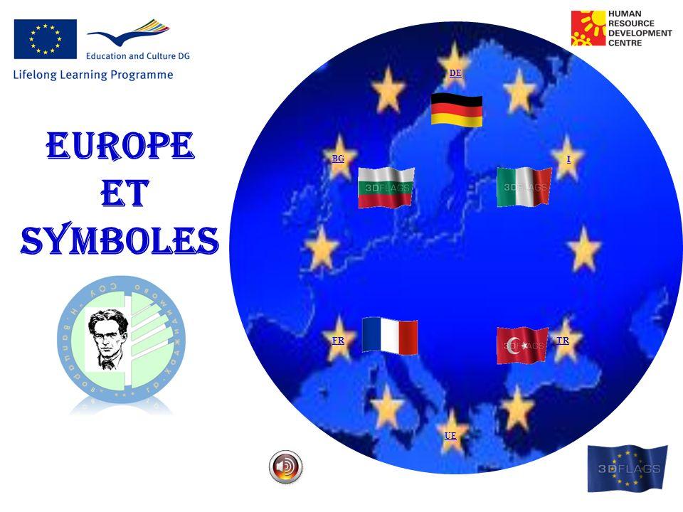 DE EUROPE ET SYMBOLES BG I FR TR UE