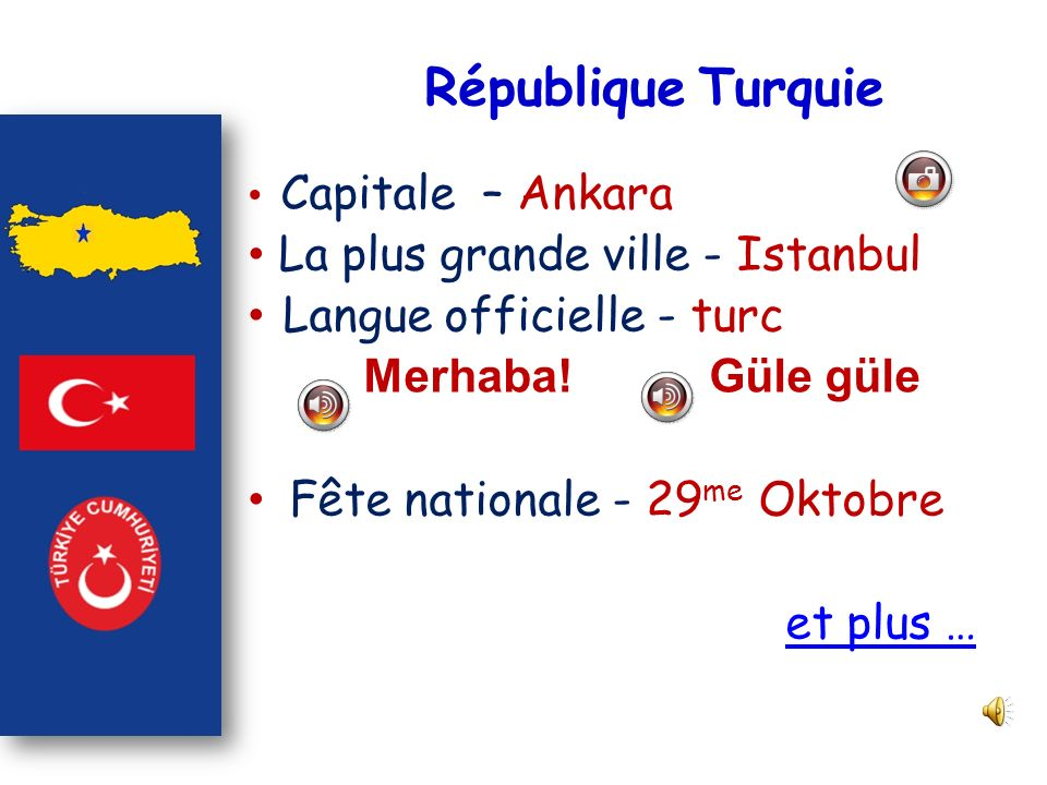 République Turquie La plus grande ville - Istanbul