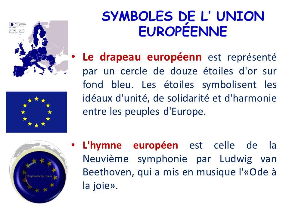 SYMBOLES DE L' UNION EUROPÉENNE