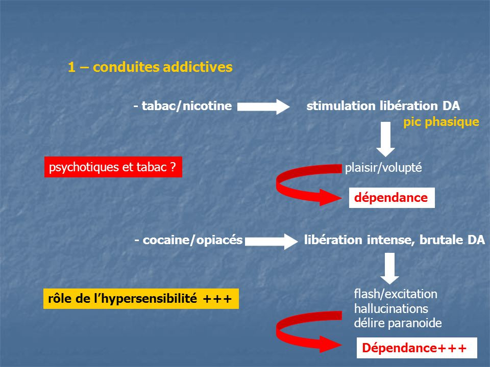 1 – conduites addictives