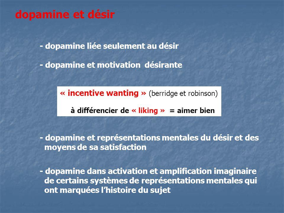 dopamine et désir - dopamine liée seulement au désir