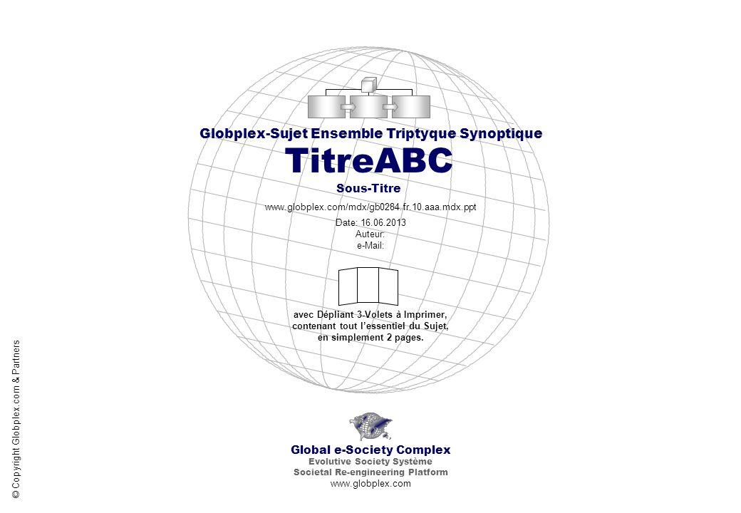 TitreABC Sous-Titre Globplex-Sujet Ensemble Triptyque Synoptique