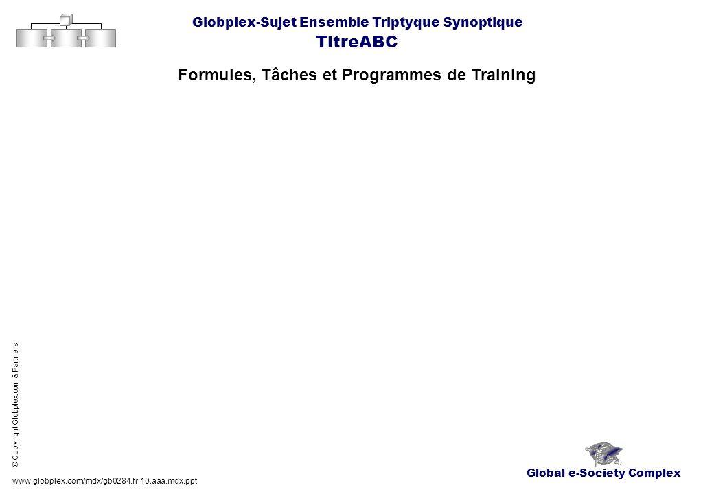 Formules, Tâches et Programmes de Training