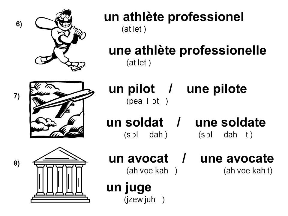 un athlète professionel