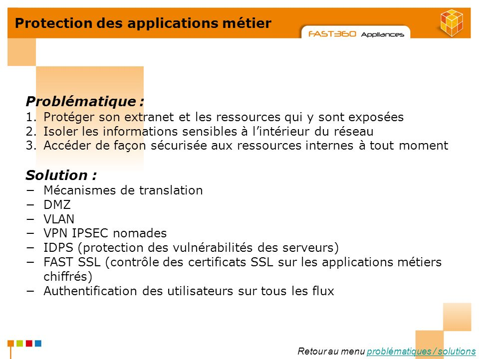 Protection des applications métier