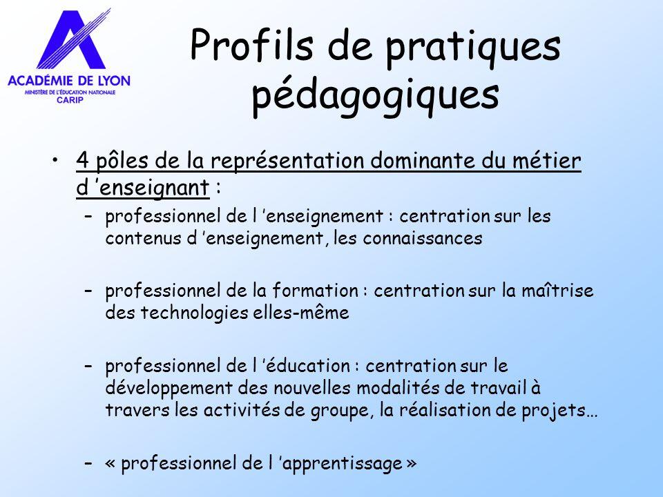 Profils de pratiques pédagogiques