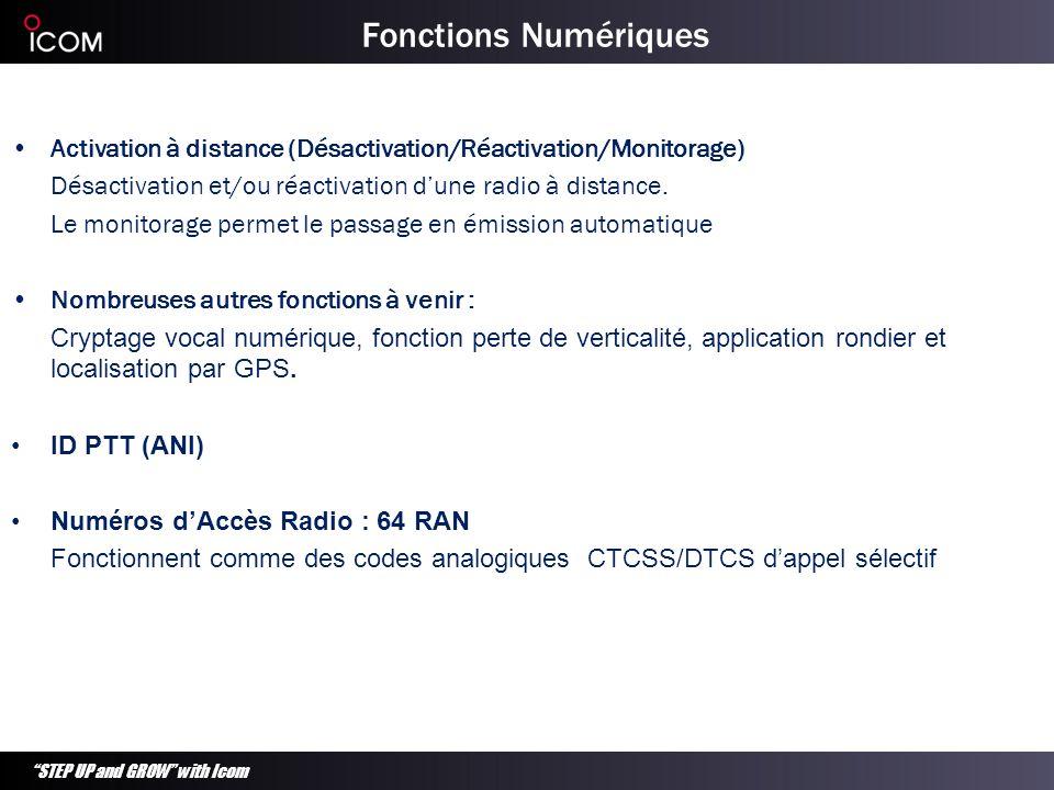 Fonctions NumériquesActivation à distance (Désactivation/Réactivation/Monitorage) Désactivation et/ou réactivation d'une radio à distance.