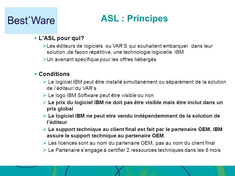 ASL : Principes L'ASL pour qui