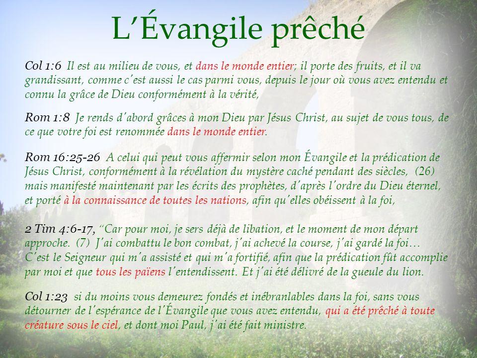 L'Évangile prêché