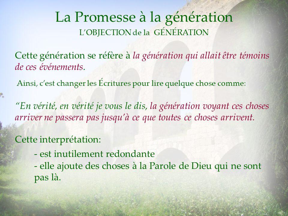 La Promesse à la génération