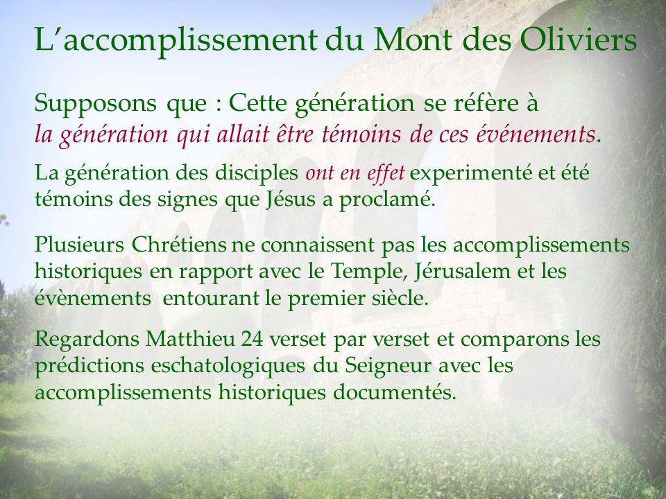 L'accomplissement du Mont des Oliviers