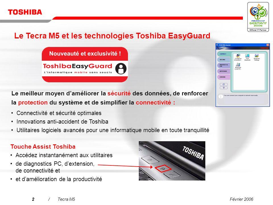 Le Tecra M5 et les technologies Toshiba EasyGuard