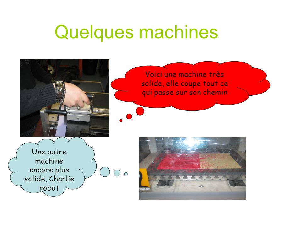 Une autre machine encore plus solide, Charlie robot