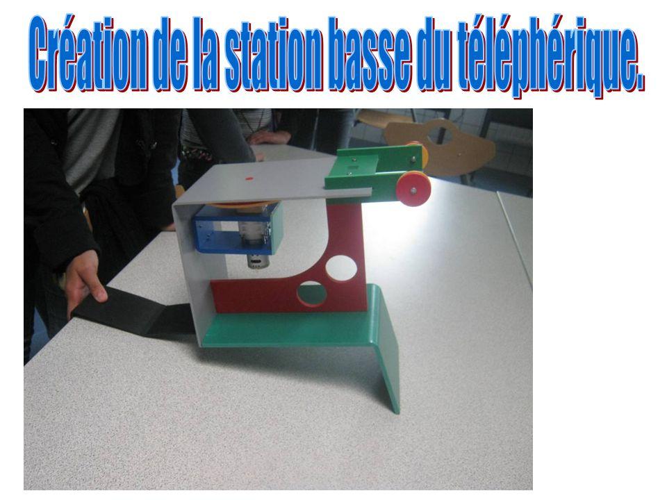 Création de la station basse du téléphérique.