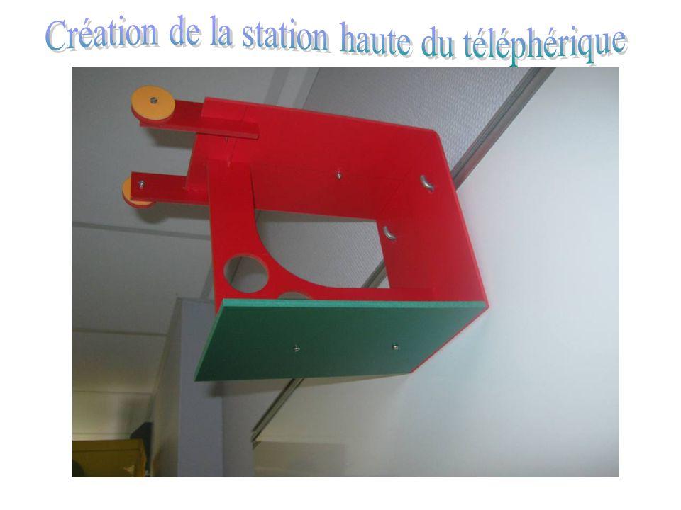 Création de la station haute du téléphérique