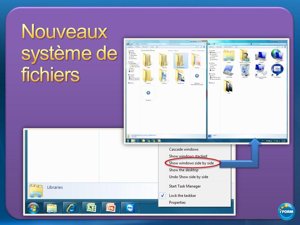 Nouveaux système de fichiers
