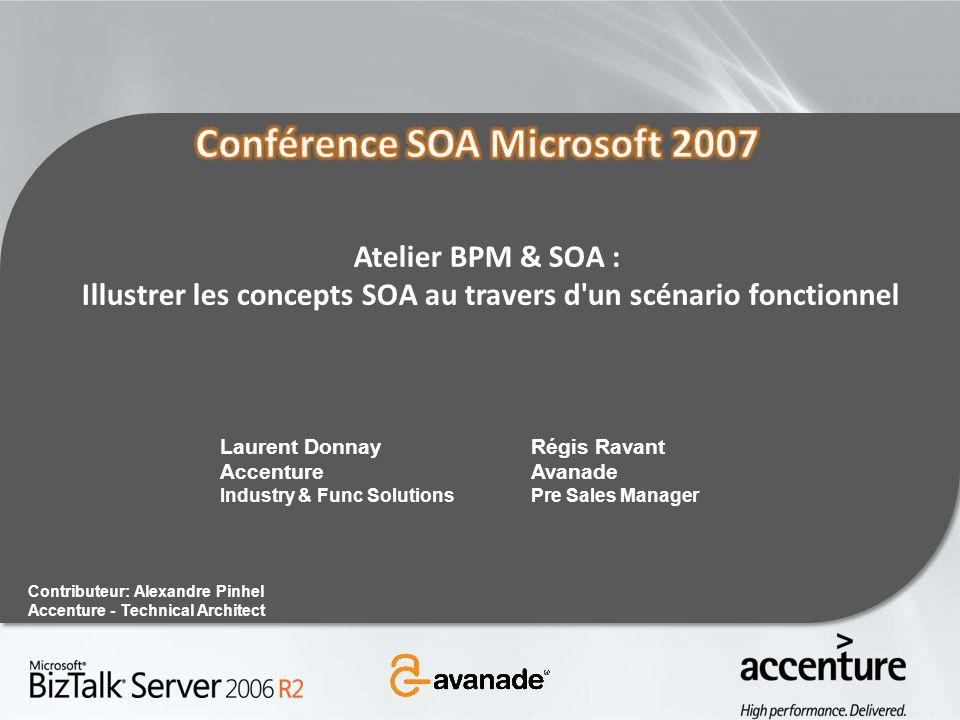 Illustrer les concepts SOA au travers d un scénario fonctionnel