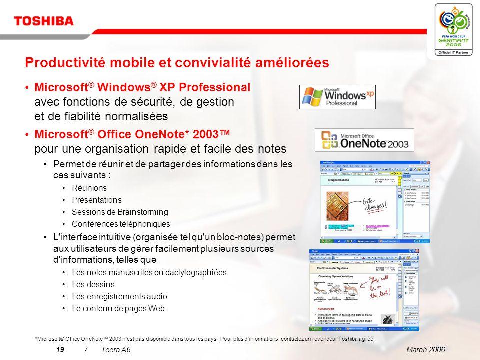 Productivité mobile et convivialité améliorées