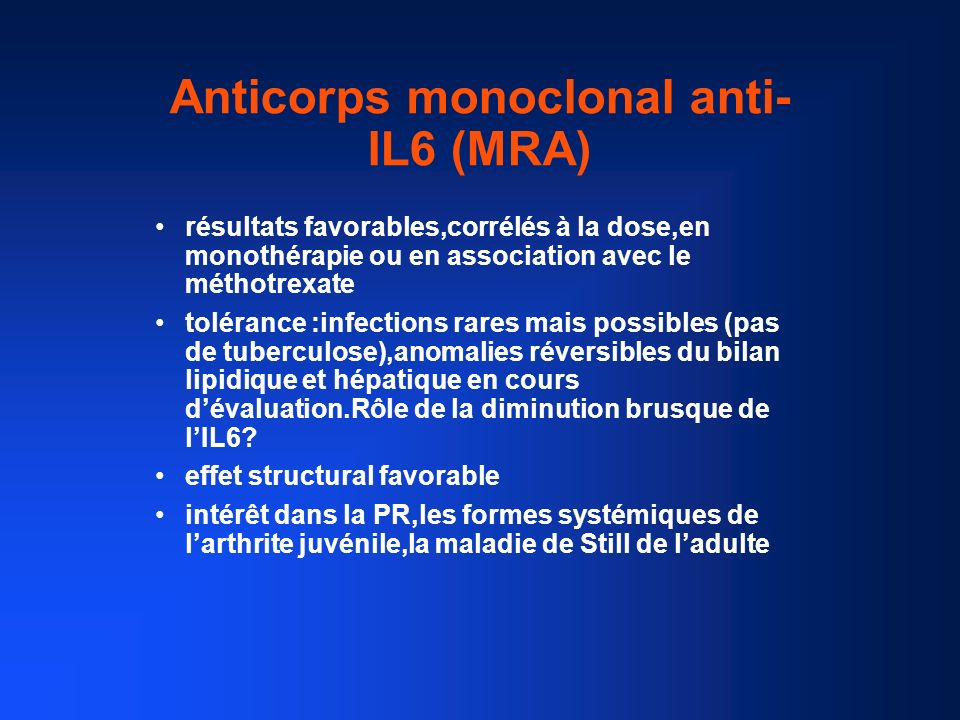 Anticorps monoclonal anti-IL6 (MRA)