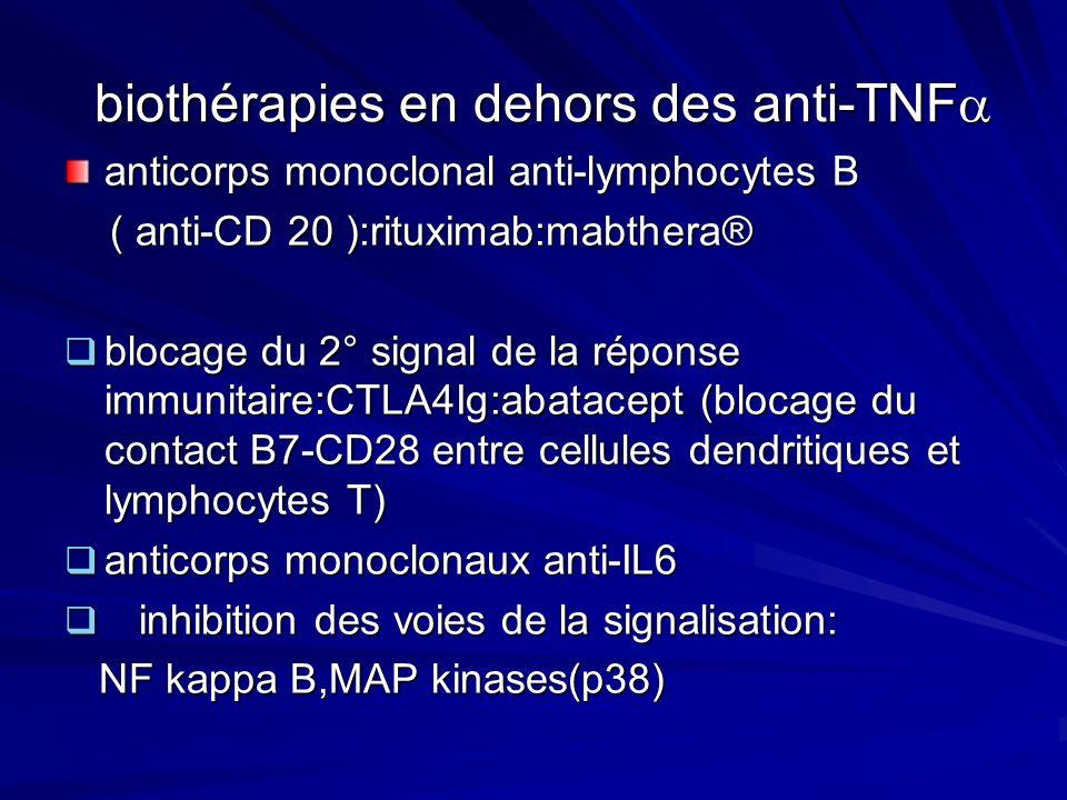 biothérapies en dehors des anti-TNF